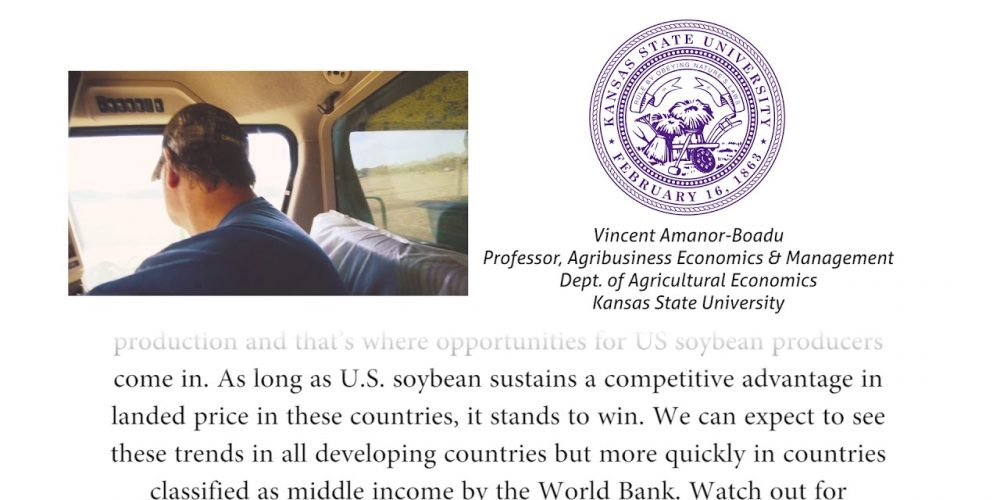 Vincent Amanor-Boadu, Economist, on Opportunities for U.S. Soybeans